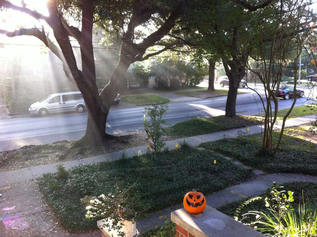 Place a Jack-o-lantern in the front yard for Halloween!