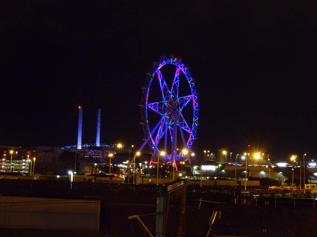 Melbourne Ferris Wheel at Night