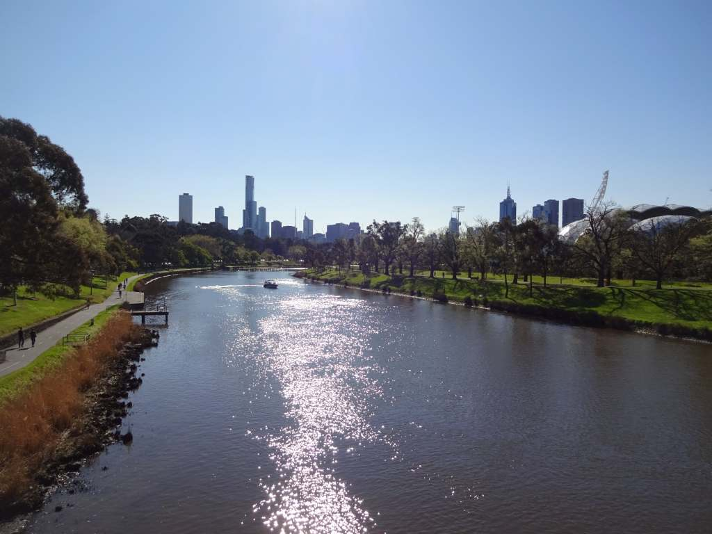 View on the CBD and Yarra River, Melbourne