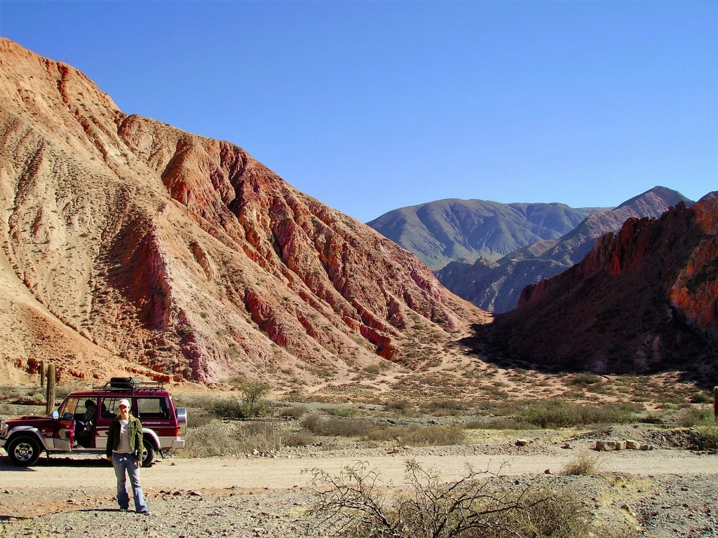 The Quebrada de Humahuaca is best explored by 4x4