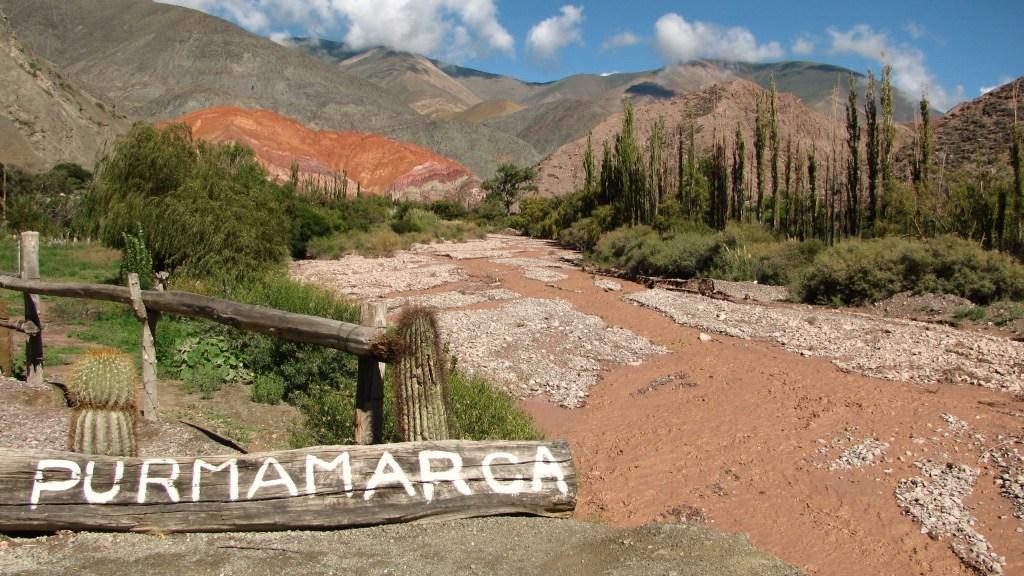 Purmamarca, one of the most famous towns in la Quebrada de Humahuaca, Argentina