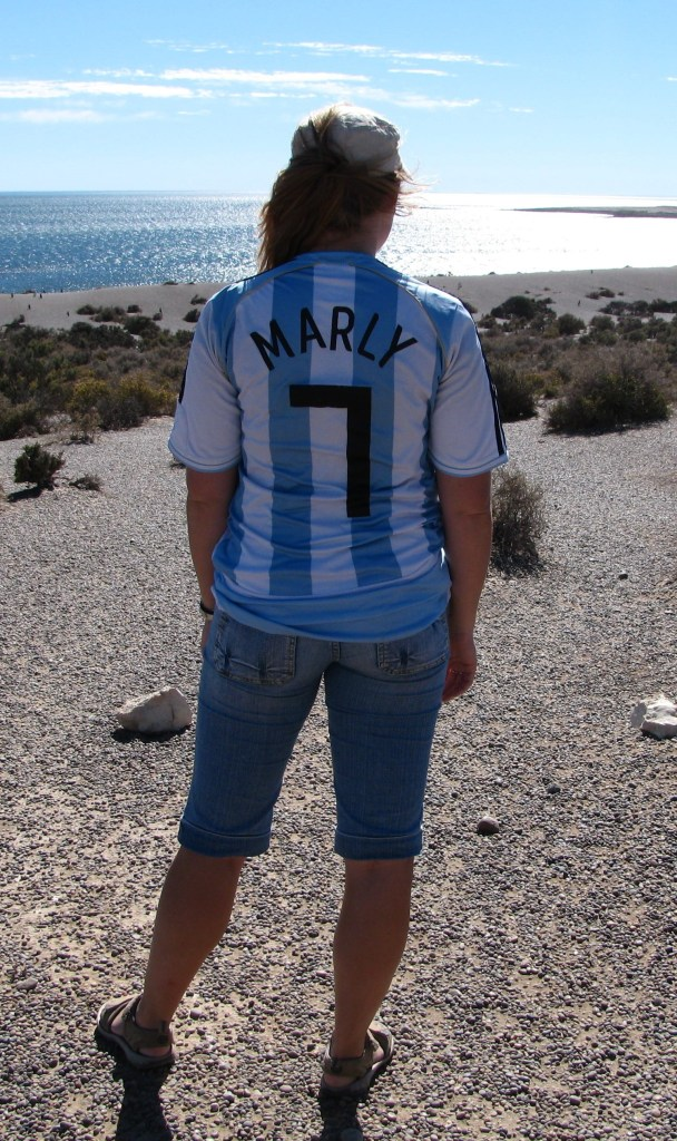 Argentina Soccer Shirt I was wearing upon arrival in Buenos Aires