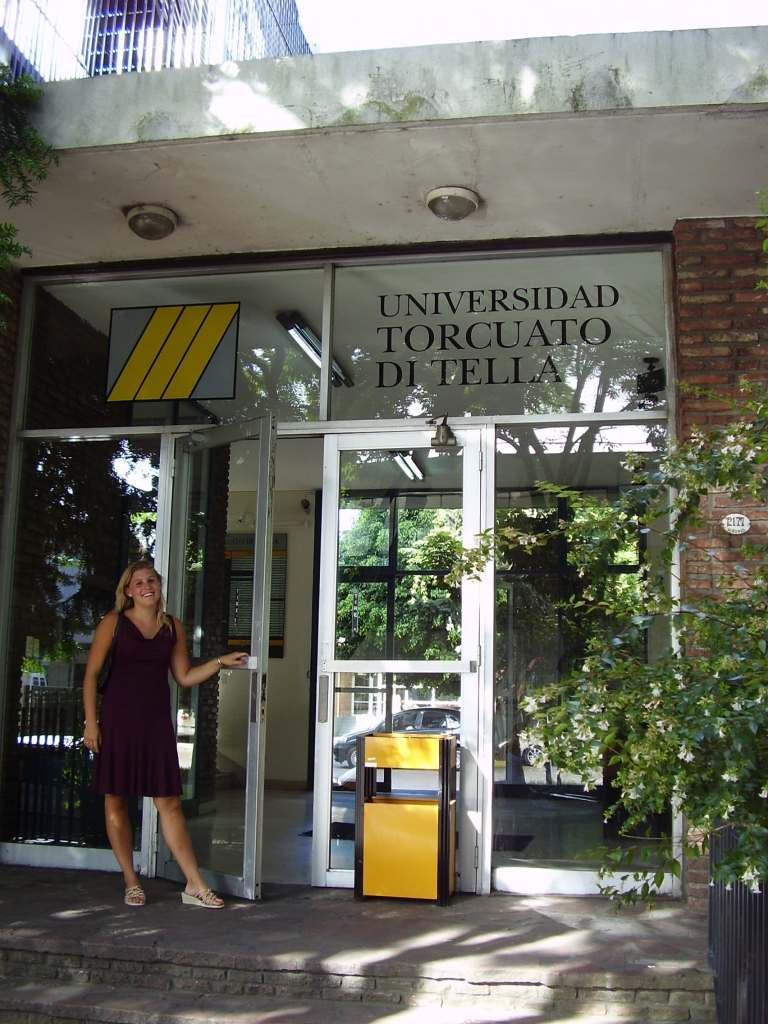 Entrance of the Universidad Torcuato di Tella in the neighborhood of Belgrano, Buenos Aires