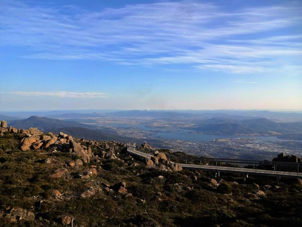 Hobart seen from Mt Wellington, Tasmania