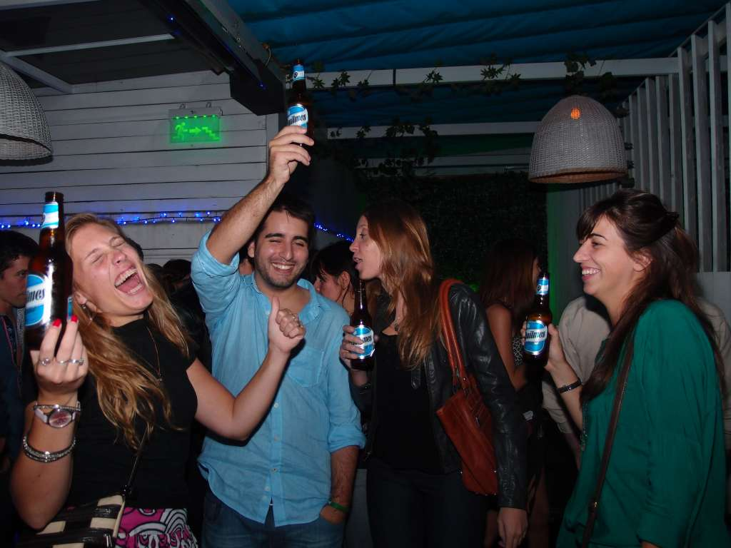 Party in a club in Buenos Aires, Argentina