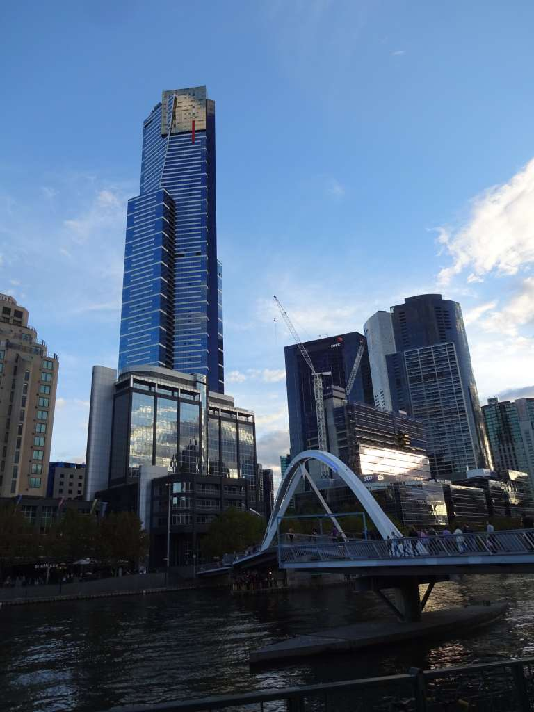 Eureka Tower from across the Yarra River, Melbourne