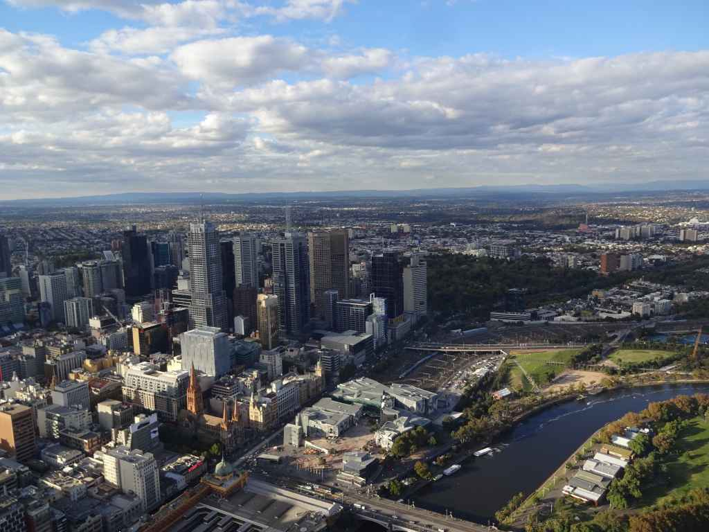 Melbourne Inner City seen from Eureka Tower