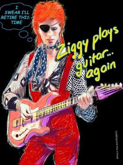 ziggy plaYS GUITAR CARTAZ EXPOSIÇÃO DAVID BOWIE EM PORTO ALEGRE