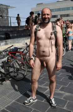 london naked bike mature bear