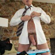 mature daddy pants down