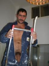 my builder shows his cock