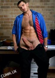 suited wanker thick dick