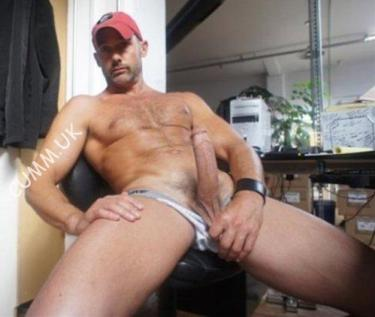 the builder was wanking his huge cock