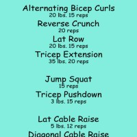 upper body workout: tris, abs and shoulders