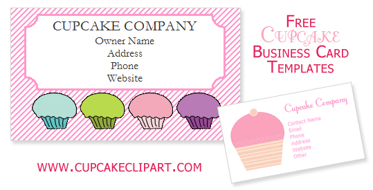 Free Cupcake Business Card Templates Cupcake Clipart - free card templates