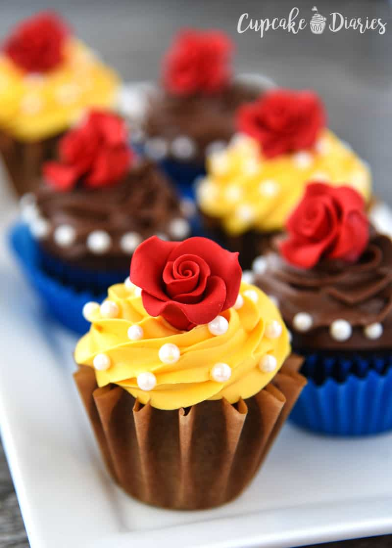 Muffins Decorados Beauty And The Beast Cupcakes