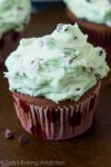 Chocolate Cupcakes with Mint Chocolate Chip Frosting