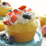 Red, White & Blue Lemon Poundcakes