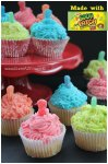 Sour Patch Kids Cupcakes