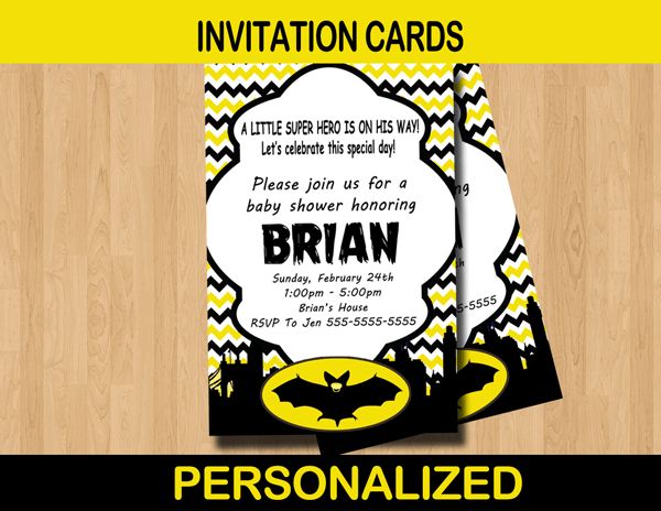 Batman Baby Shower Invitations Related Keywords Batman