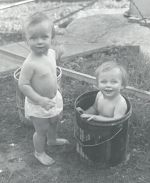 water babies Sue and Beth Ann