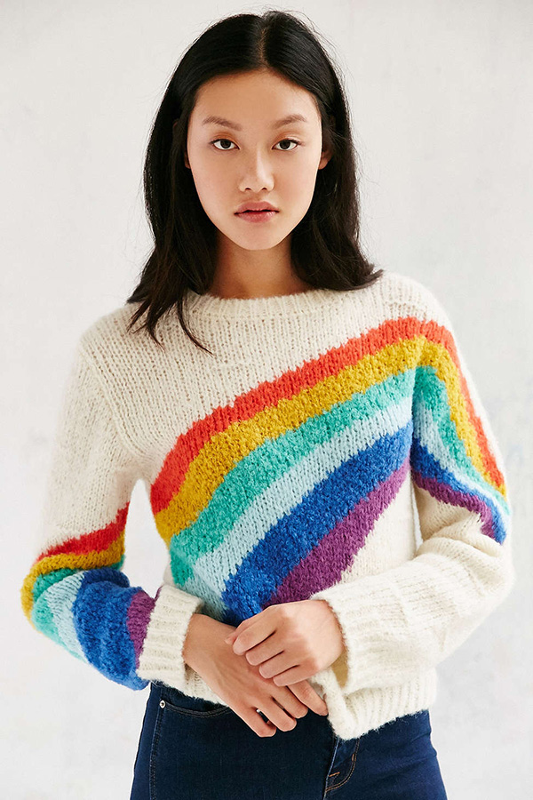 Rainbow Knitting Design 12 Cozy Sweaters A Cup Of Jo