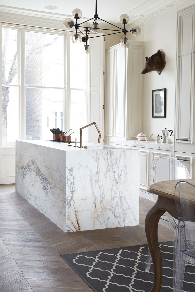 White Marble Island 48 Marble Kitchens That Are Beyond Gorgeous