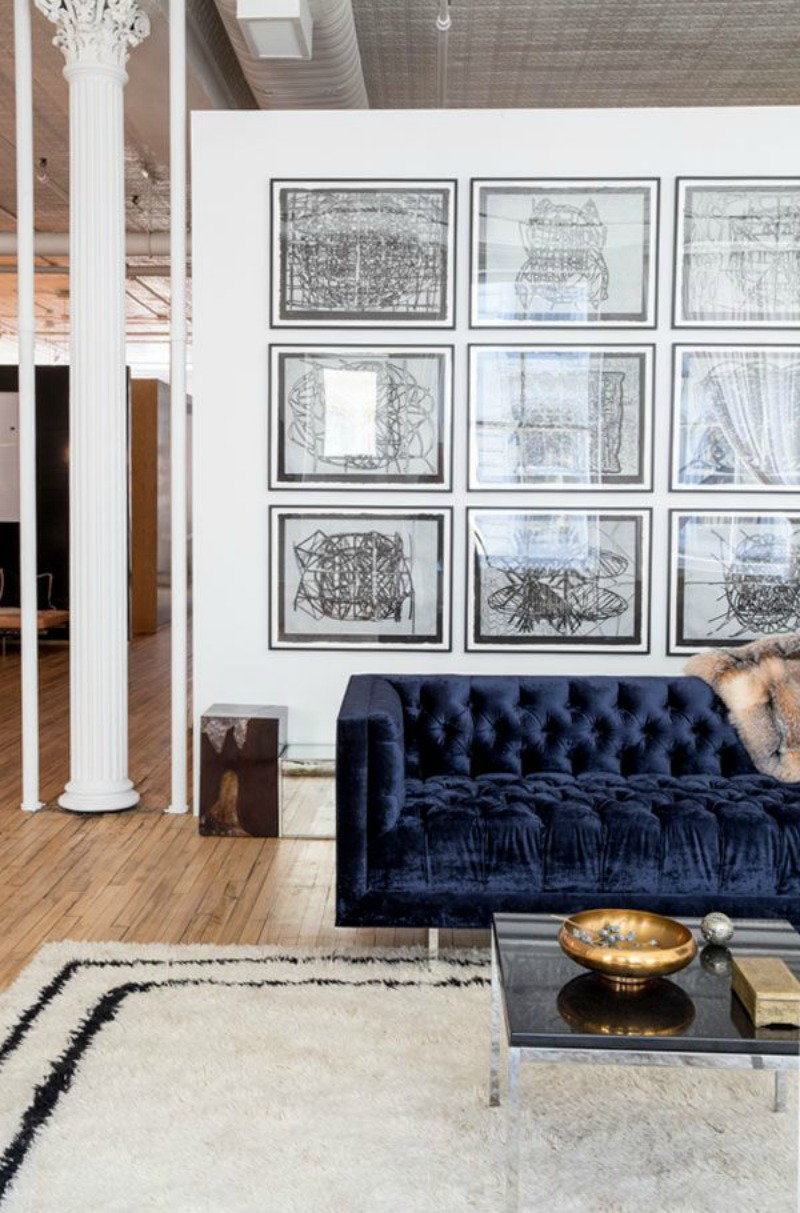 Fullsize Of Blue Velvet Couch