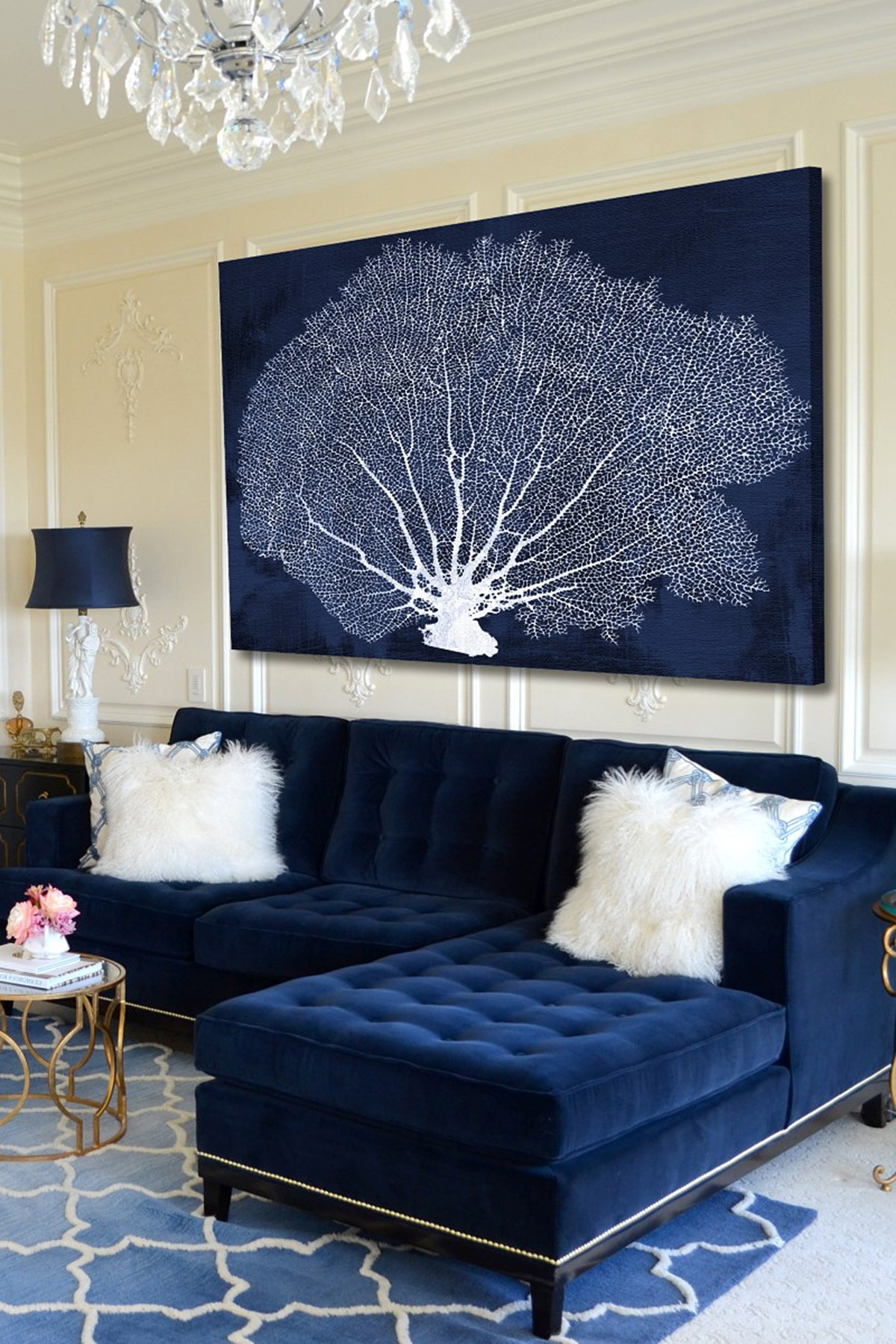 Sofa Via 25 Stunning Living Rooms With Blue Velvet Sofas