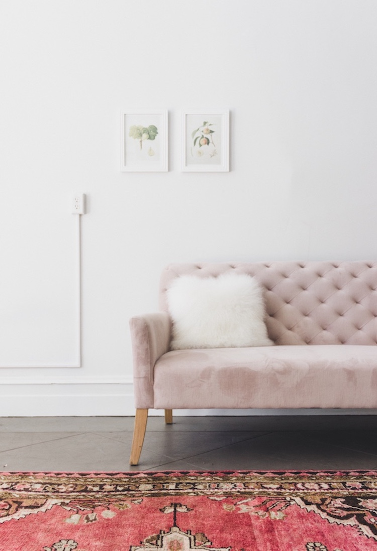 Grey Leather Sofa 18 Chic Blush Pink Sofas & How To Style Them!