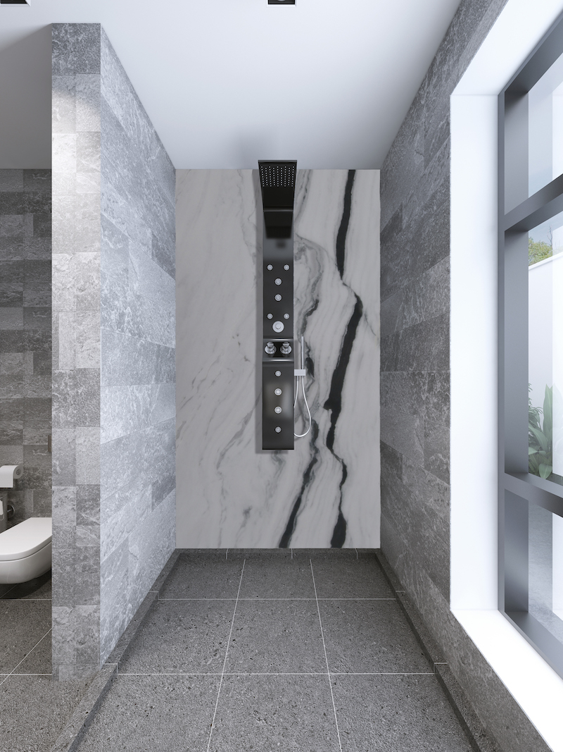 White And Grey Bathroom Stunning Panda White Marble Ideas For Your Home