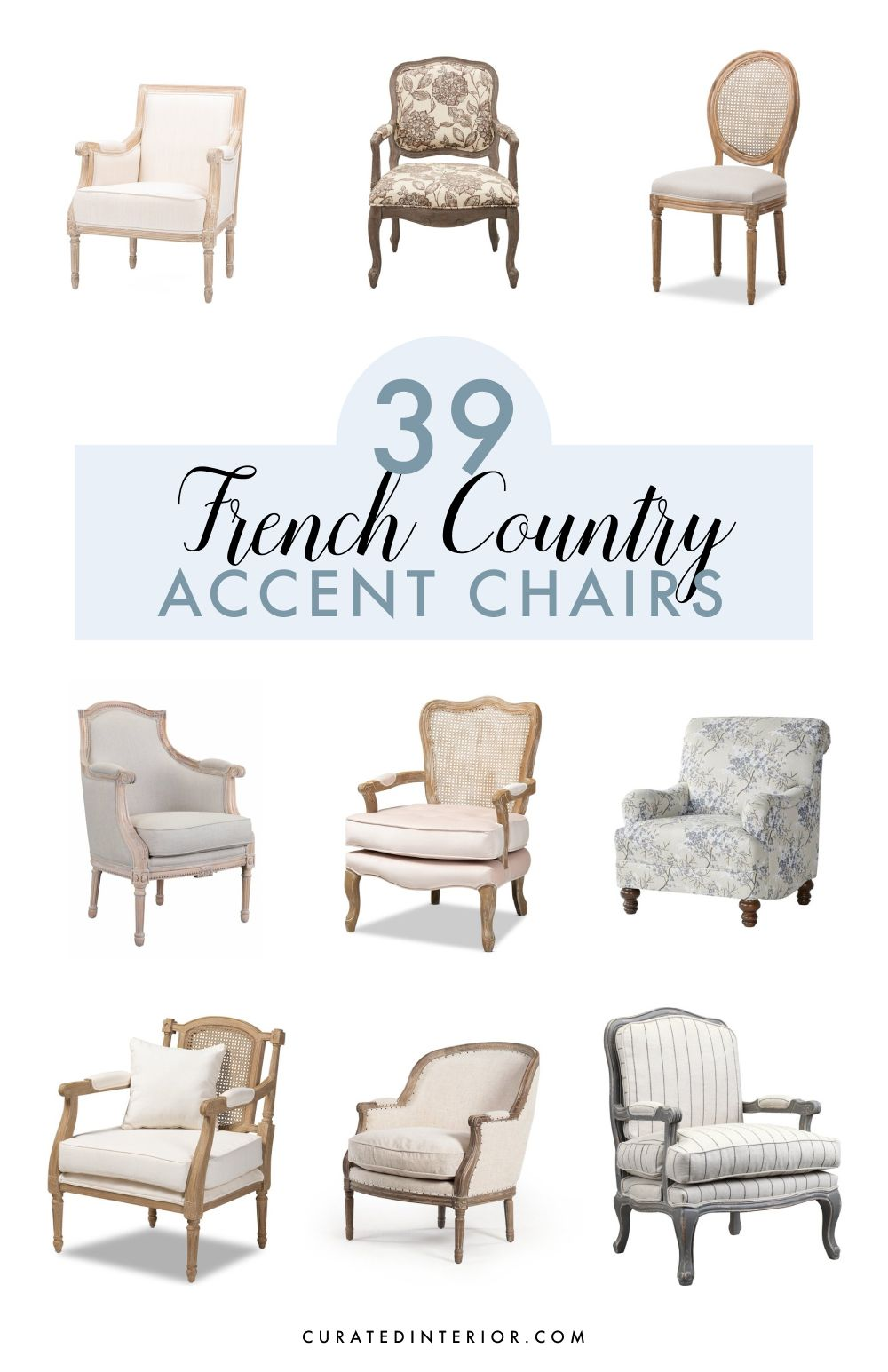 39 Charming French Country Accent Chairs