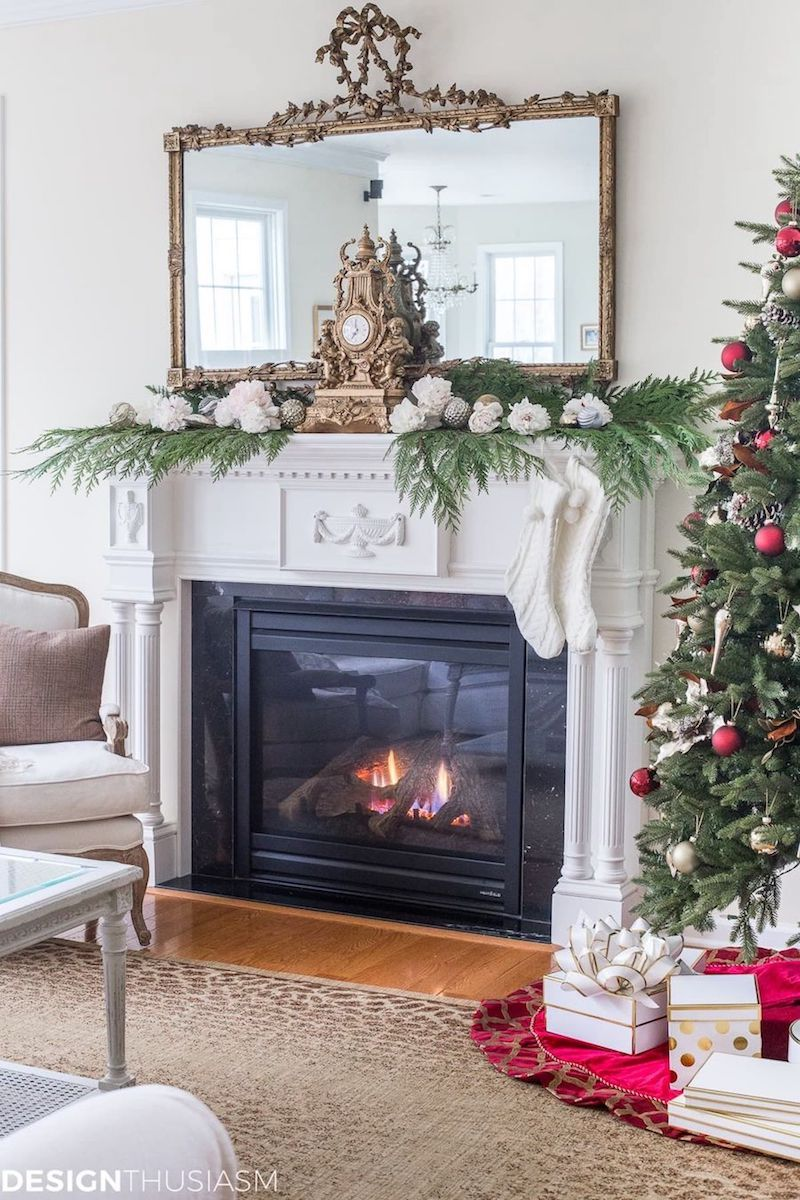 French Country Fireplace 19 French Country Christmas Decor Ideas
