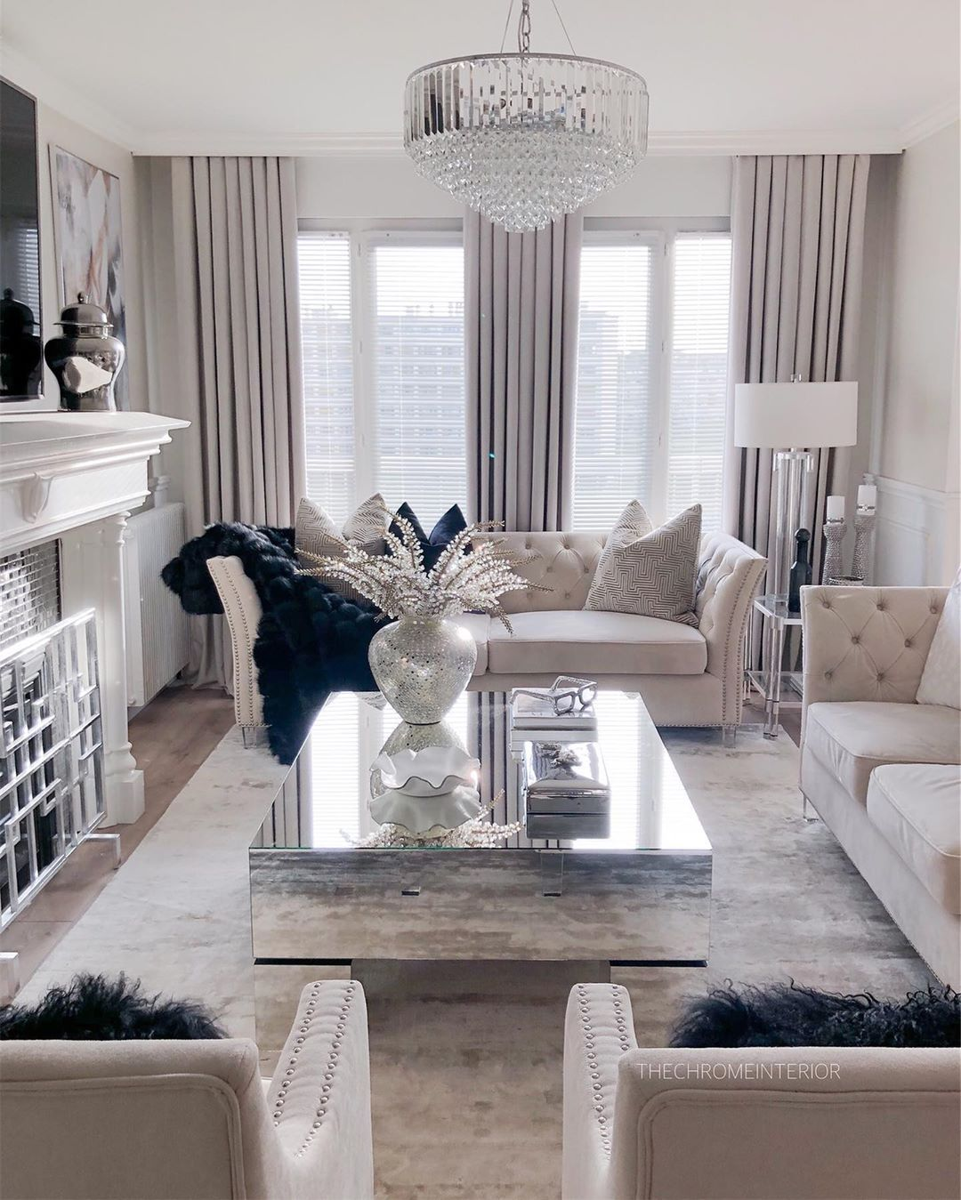 29 Glam Living Room Decor Ideas