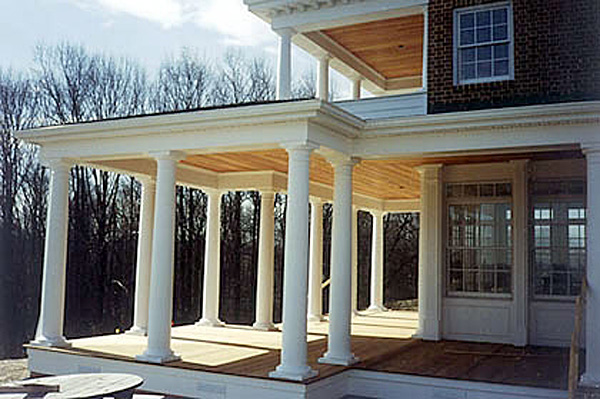 Columns For Porches Round Fiberglass Porch Columns | Curb Appeal Products