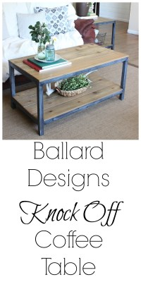 Ballard Designs Knock Off Coffee Table - CURB TO REFURB
