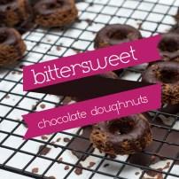 gluten free dairy free bittersweet chocolate doughnuts on cooling rack