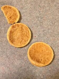 peeled apart gluten-free orange espresso biscuit