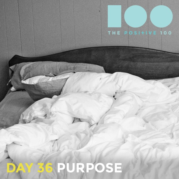 I know I have purpose. And it is more than laying in bed.