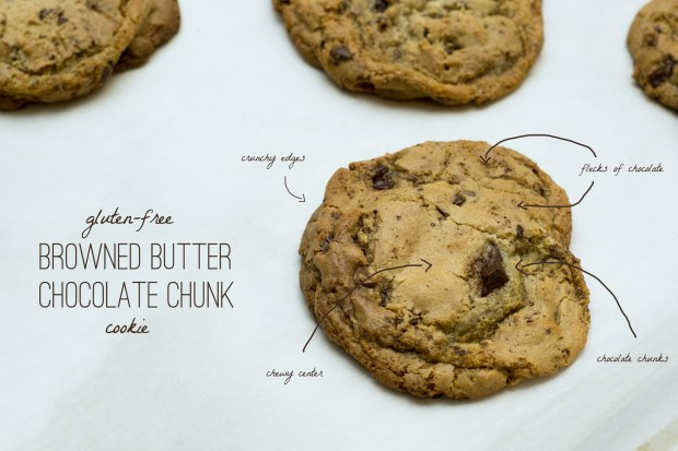 gluten-free brown butter chocolate chunk cookies
