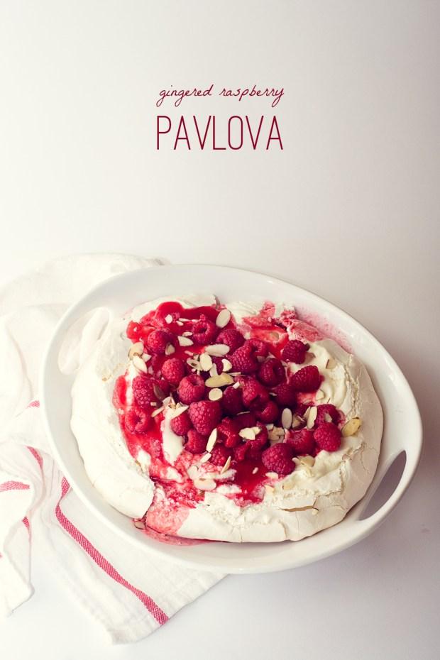 gingered raspberry pavlova | a gluten-free recipe from frannycakes.com