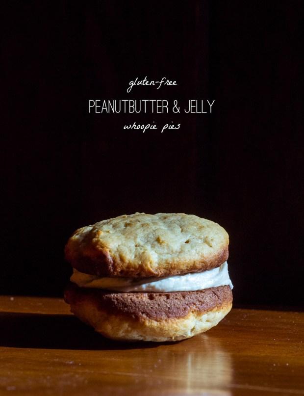 gluten-free pb&j whoopie pies | a recipe from frannycakes.com