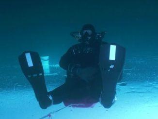 submarinismo bajo el hielo