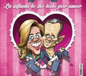 La Infanta Cristina e Iñaki Urdangarín portada de El Jueves