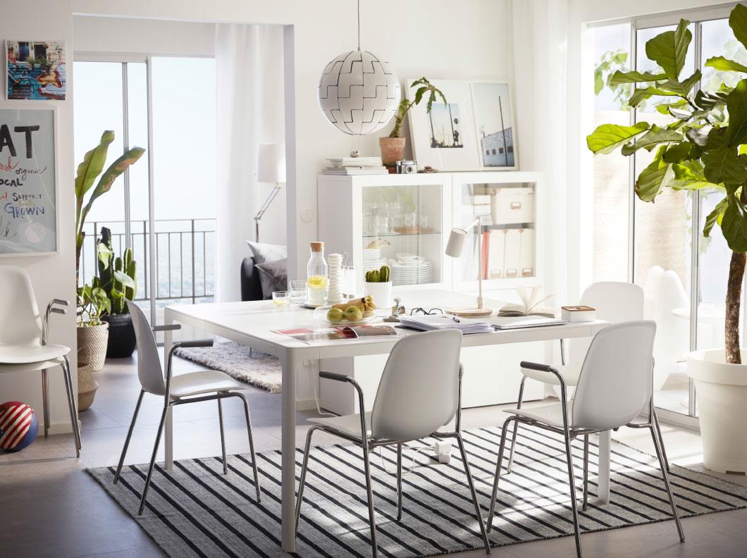 Comedor Blanco Ikea | Ikea Sillas Comedor