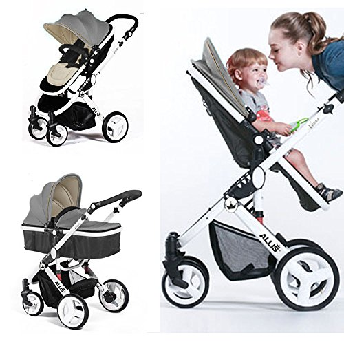 Baby Buggies Travel System Allis® Baby Pram Pushchair Buggy Stroller Carry Cot Travel