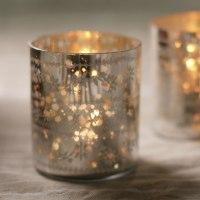 Sparkling Silver Tea Light Holders - Curiosity Home