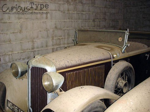 old cars found in a barn