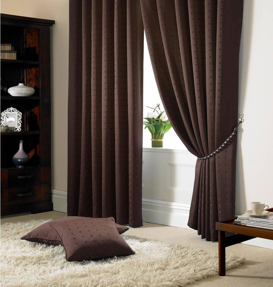 Ready Made Curtains 108 Drop Brown Madison Fully Lined Curtains Eyelet Or Tape Top Ready Made Curtains
