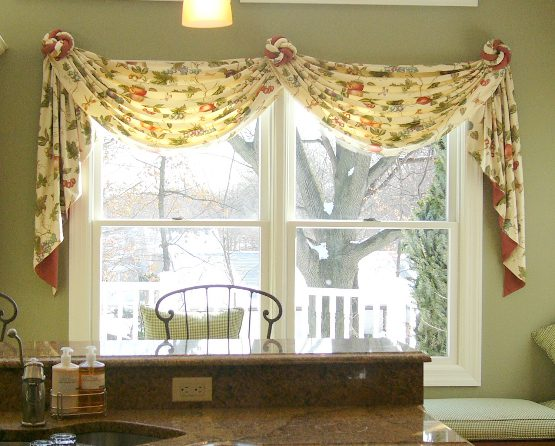 Valances and Swags by Curtains Boutique in NJ - swag curtains for living room